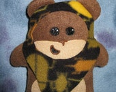 Little Brown SQUEEwok with Bug Patterned Hood