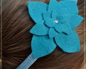 Large Turquoise Flower Headband