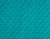 Teal Cuddle Dimple Dot Minky by Shannon Fabrics, 1 yard
