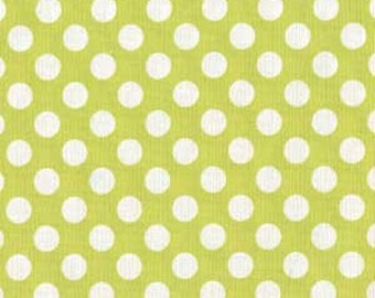 Michael Miller Fabric, Lime Ta Dot, 1 yard