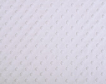 "White Cuddle Dimple Dot Minky by Shannon Fabrics, Fat Half (30"" x 36"")"