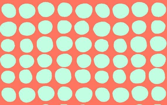 Amy Butler Love Fabric, Sunspots in Tangerine, 1 yard- Last Yard in stock