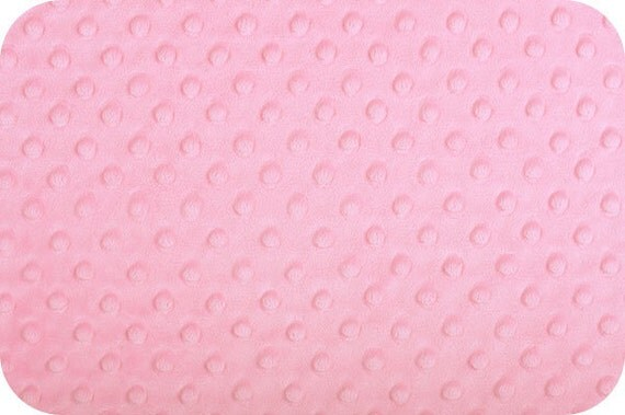 Paris Pink Cuddle Dimple Dot Minky by Shannon Fabrics, 1 yard