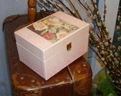 Vintage 80s Musical Jewelry Box in Pale Pink with Fairy Picture and Dancing Ballerina  Cicely M Barker Flower Fairies 1984 Blackie & Son Ltd
