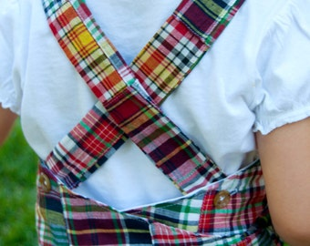 Sewing Pattern Girl's Apron Wrap Dress (PDF DOWNLOAD)