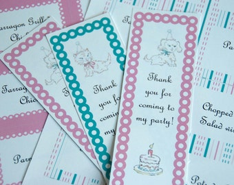 Book Party Printables (Editable Text): Vintage Book Birthday with Invitation, Toppers, Bookplates and More (INSTANT DOWNLOAD)