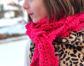 Scarf Pattern: Crochet Skinny Scarf for Girls and Women (PDF)