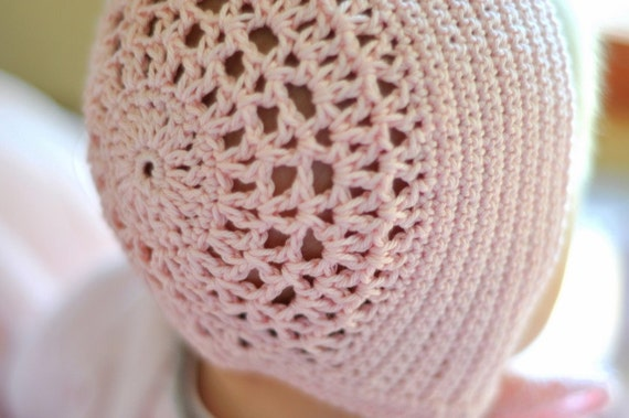 Baby Crochet Pattern: Blessing Bonnet 3 months (PDF INSTANT DOWNLOAD)