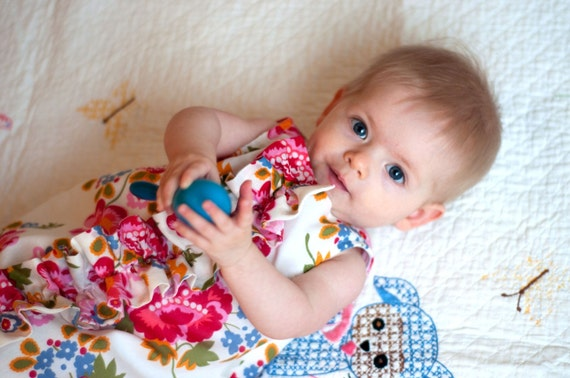 Baby and Girls Dress Pattern: Ruffled Chemise (PDF INSTANT DOWNLOAD)