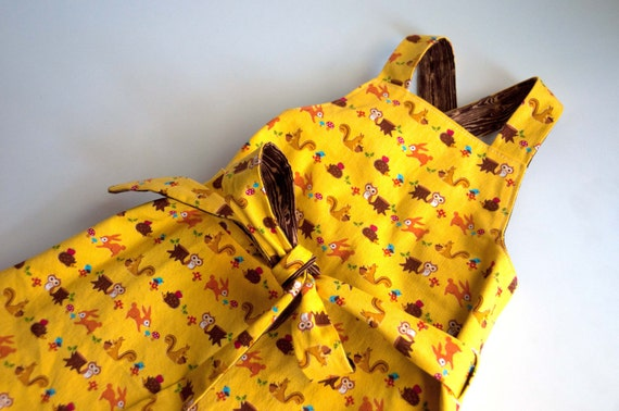 Sewing Pattern: Apron Wrap Dress for Girls 12mos, 2, 3, 4, 5, 6, 7, 8  (PDF, epattern, DOWNLOAD)