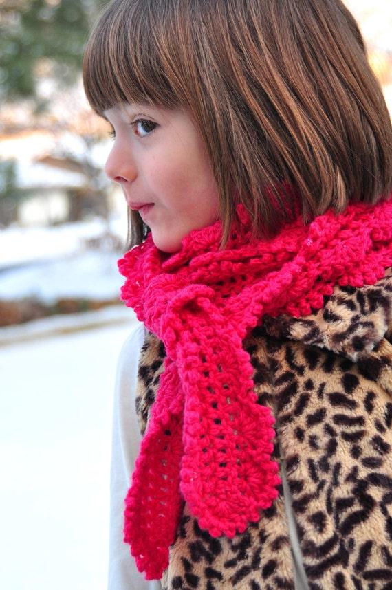 Scarf Pattern: Crochet Skinny Scarf for Girls and Women (PDF)