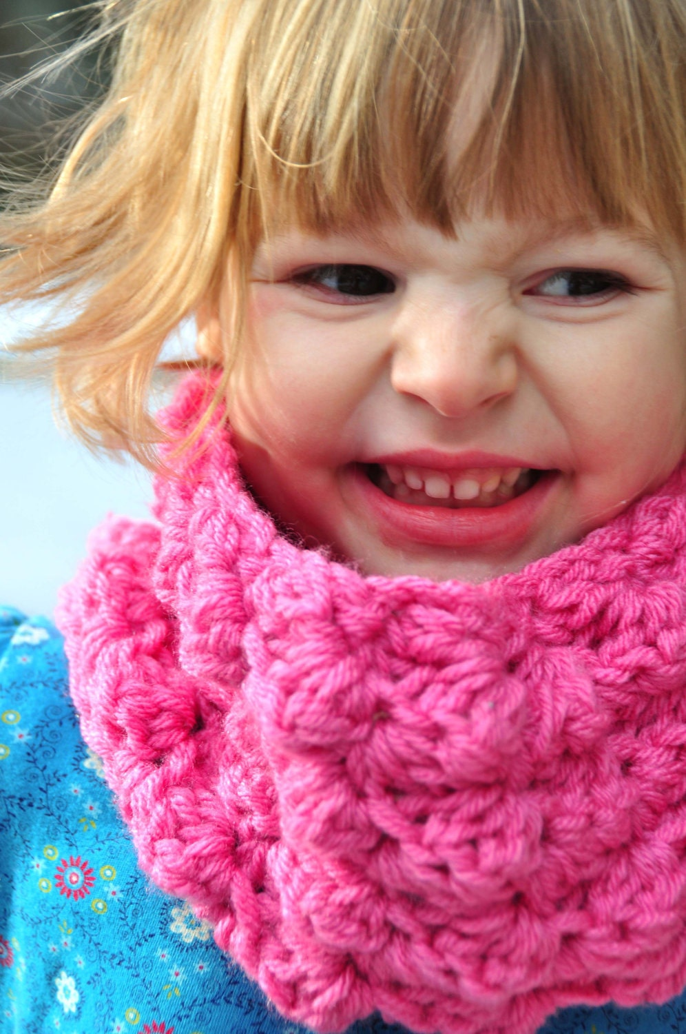Childrens Scarf Pattern: Crochet Sedge Stitch Cowl PDF