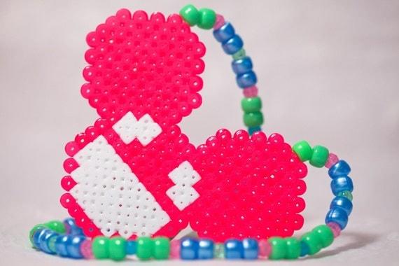 Kandi Pony Beads And Rave: Deadmau5 Perler Kandi Pony Beads Necklace Rave By Karissalynne