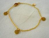 dainty gold bracelet, minimalist gold jewelry, layering gold bracelets, simple gold bracelet