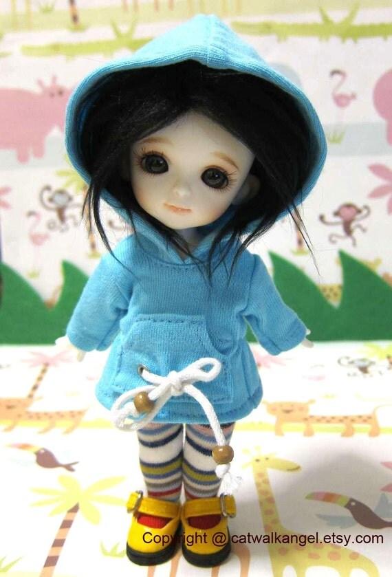 Lati / PUKIFEE Hoodie --- Blue Hoodie for Lati Yellow doll / PUKIFEE