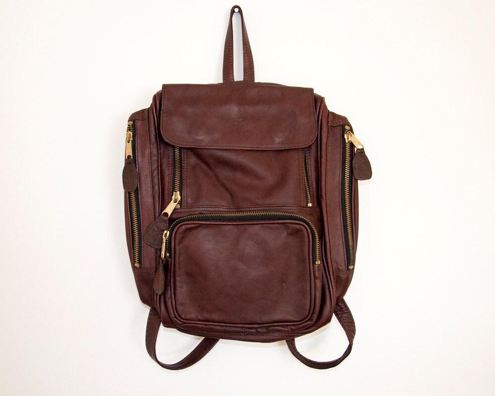 Vintage Frye Brown Leather Backpack