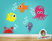Sealife (Set of 5) - Vinyl Wall Decal