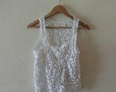 SALE - White Crochet Top