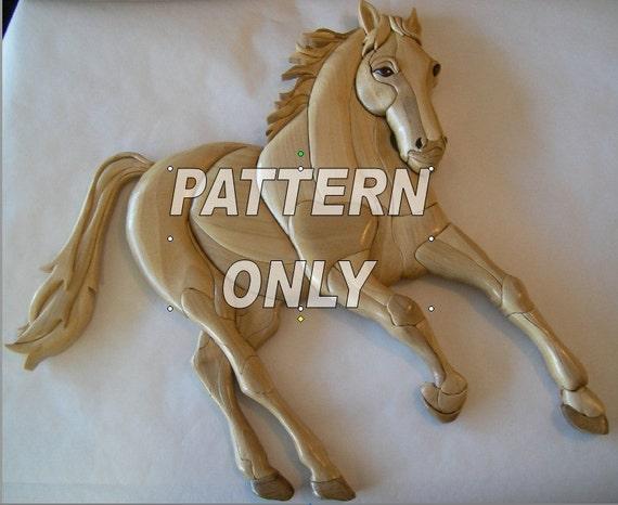 Pattern of 'Mustang' Intarsia