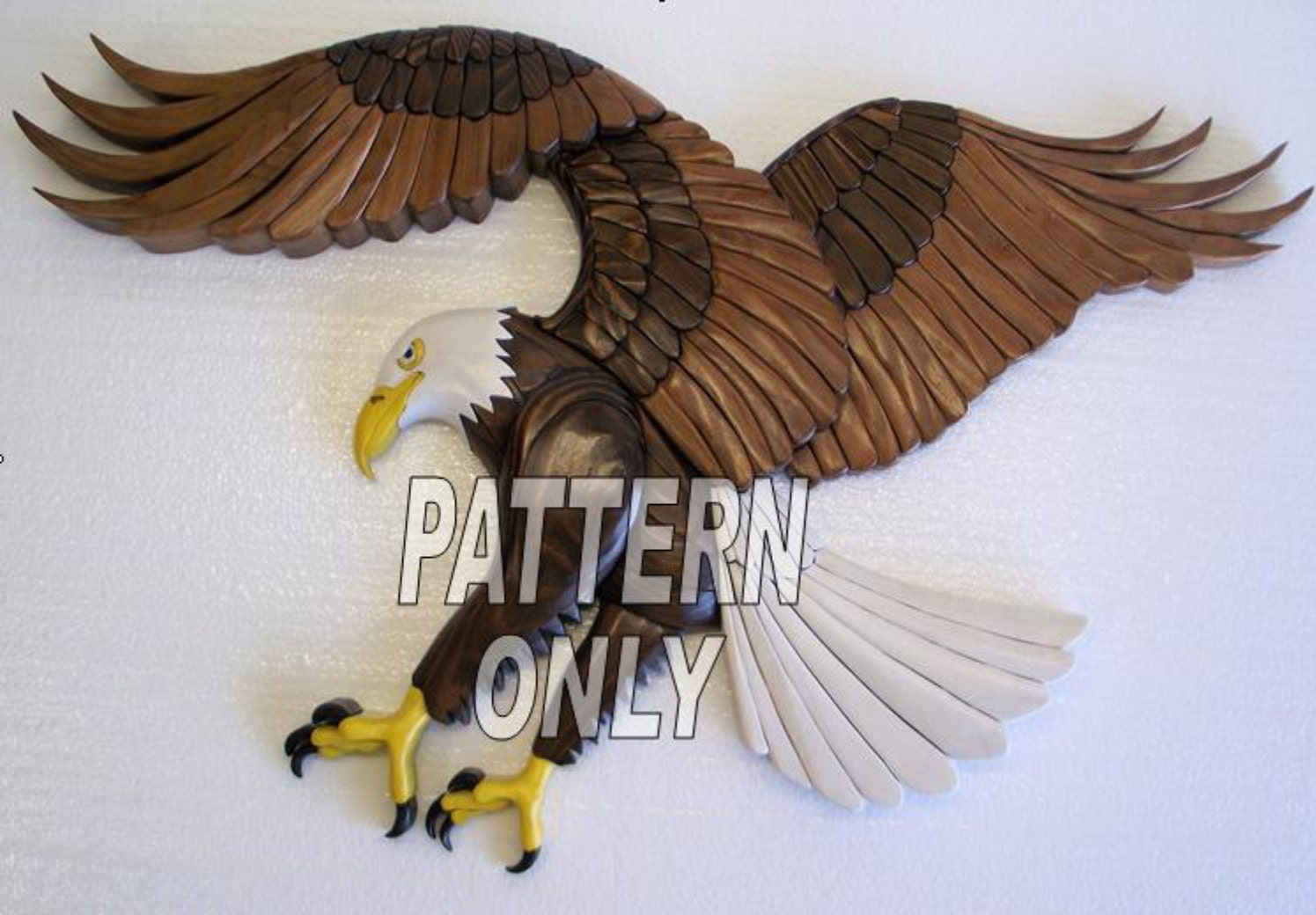 Pattern of Eagle Intarsia sculpture