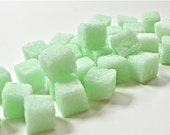 Mint Flavored Sugar Cubes 6 Oz Bag for for Tea Parties, Champagne Toasts, Favors, Coffee, Tea, Berries, Cider, Lemonade