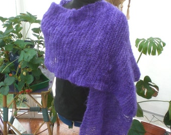 Purple mohair stole