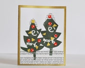 Christmas Card / Greeting Card / One of a Kind / Handmade Card / Collage / Unique Card / Paper Goods / Greeting Cards / Any Occasion Card /