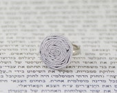 Paper Ring / Unique Ring / Adjustable Ring / Gift for Her / First Anniversary Gift / 1st Anniversary Gift /Paper Anniversary /Handmade /Ring