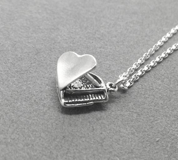 Grand Piano Necklace, Sterling Silver