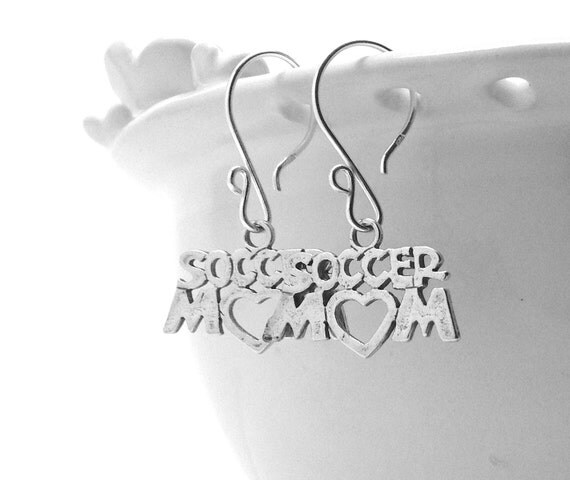 Soccer Mom Earrings, Sterling Silver