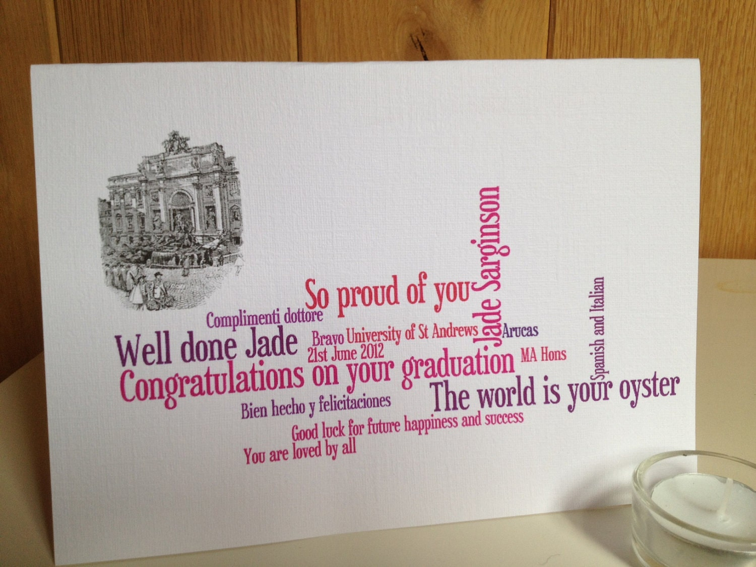 Exam Success Personalized Graduation card SHIPS by weheartcards – Success Cards for Exams