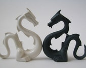 Small hand made unique porcelain DRAGON
