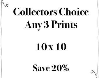 SALE - Any Three 10x10 Prints - Fine Art Travel Photography  - Story Wall - Home Decor