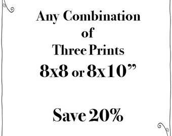 SALE - Any Three 8x8 or 8x10 Prints - Fine Art Travel Photography  - Story Wall - Home Decor