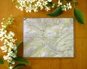 Save the Date - Custom Eco Friendly Upcycled Topographic Map - Rustic Charm - Personalized Woodland Outdoor Spring Wedding