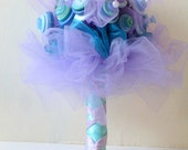 Teal  Button Bouquet for Wedding or Prom