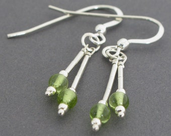 Peridot Earrings in Sterling Silver
