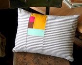 Salvaged Cotton, Patchwork Pillow