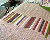 SUPER SALE  Contemporary, Earthy Quilt