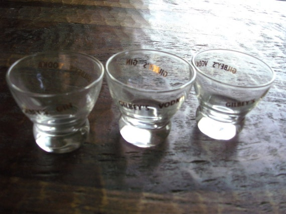 Gilbey's Gin and Vodka Glasses