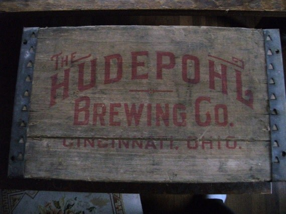 Hudepohl Beer Crate