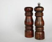 SALE Quite The Pair Vintage Wooden Salt Shaker and Pepper Grinder