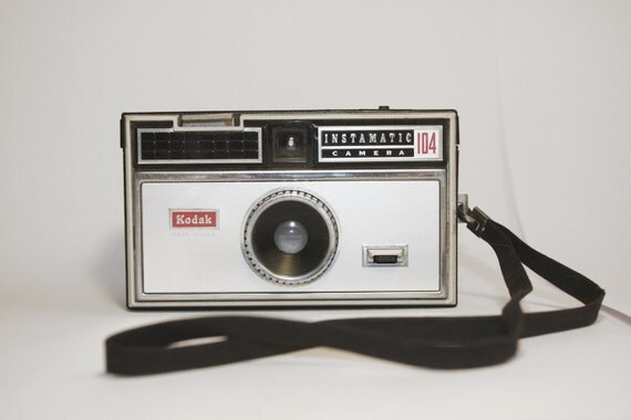 Wanderlust vintage kodak instamatic 104 black and silver camera