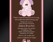 Dog Invitation -- Puppy Baby Shower Invitation -- PRINTABLE INVITATION DESIGN