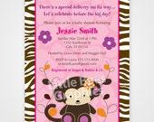 Jacana Jungle Safari Printable Baby Shower or Birthday Invitation -- Any Color
