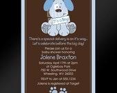 20, 5x7 -- Puppy Dog Baby Shower or Birthday Invitations -- Custom