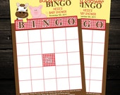 Farm Barnyard BINGO game cards - Set of 20 Cards - Baby Shower, Birthday Favors