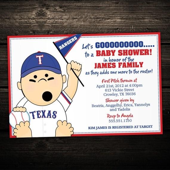 Sports Baseball Tailgate Printable Baby Shower or Birthday Invitation -- ANY TEAM MLB