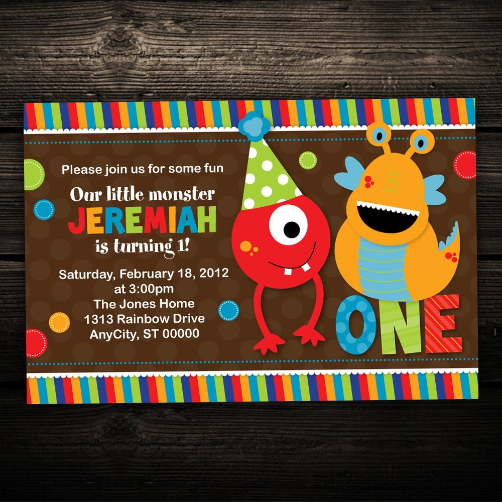 Cookie Monster Invitations as good invitations example