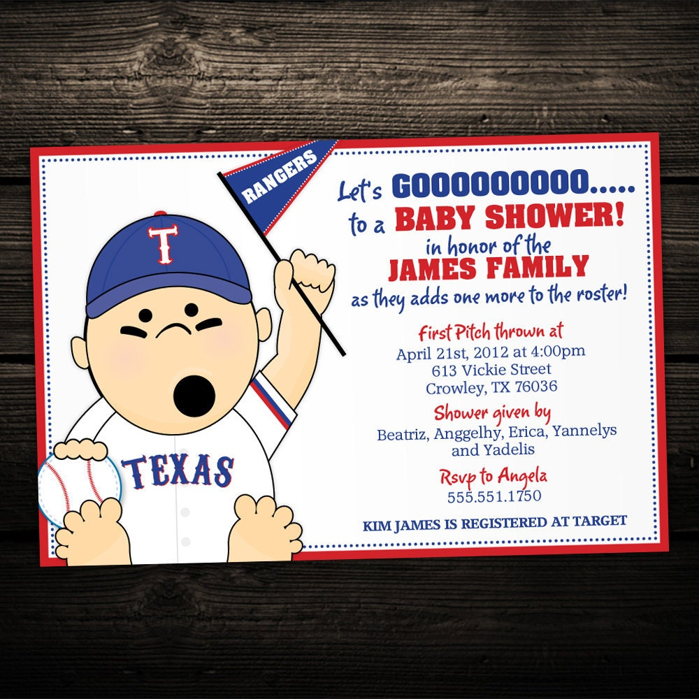 baseball baby shower invitations sports or tailgate themed